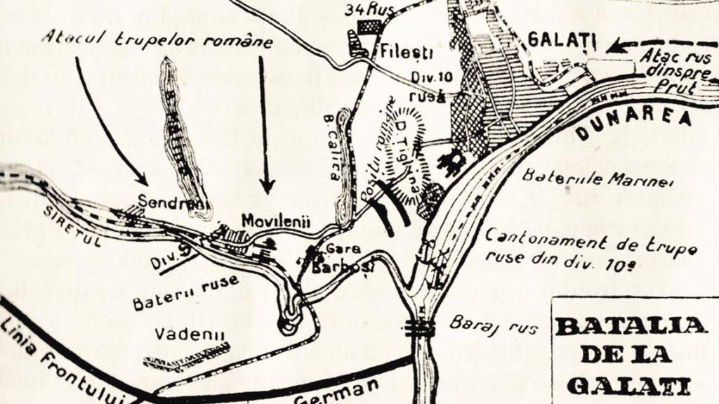 harta-batalia-galati-1918