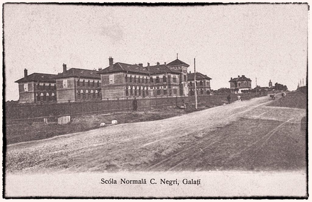 Cartierul Țiglina II - Galați, imagine veche, Scoala Normală Costache Negri, mai târziu Liceul Pedagogic, actual Colegiul Național Costache Negri